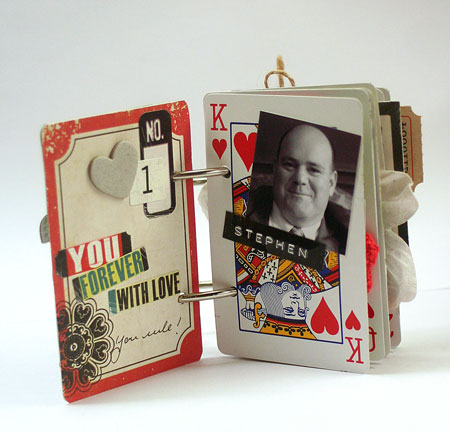 King of Hearts Playing Card Mini Album