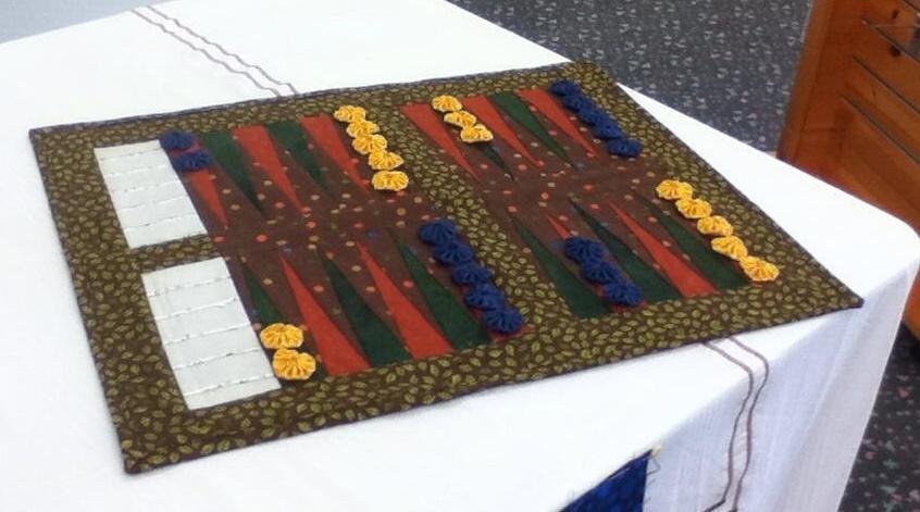 handmade backgammon game board