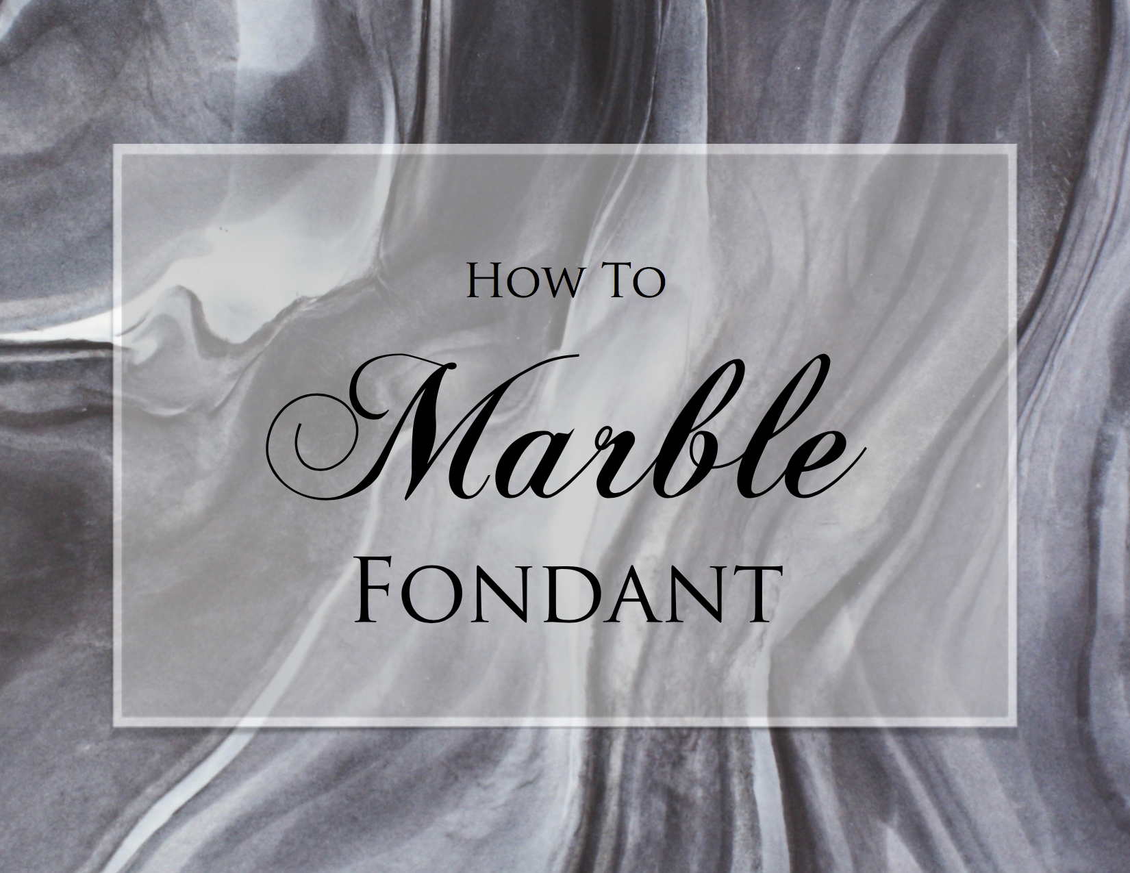How to Marble Fondant | Erin Gardner