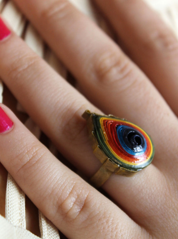 jImage of quilled paper ring by ewelren