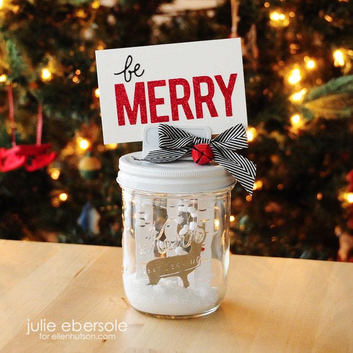 Be Merry Mason Jar Snow Globe
