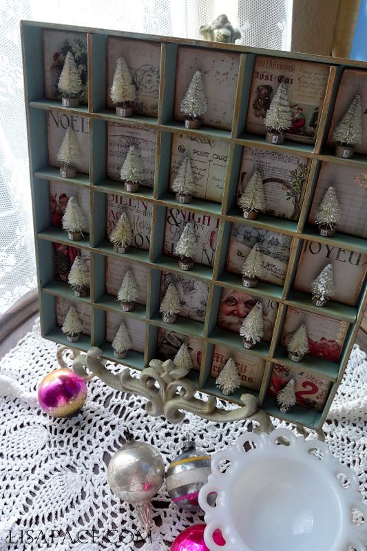 Vintage Style Holiday Advent Calendar Project