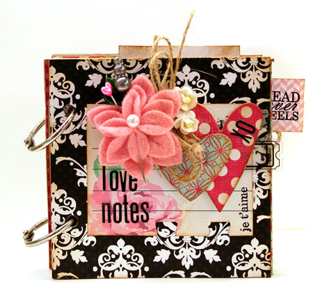Love Notes Folded Paper Mini Album