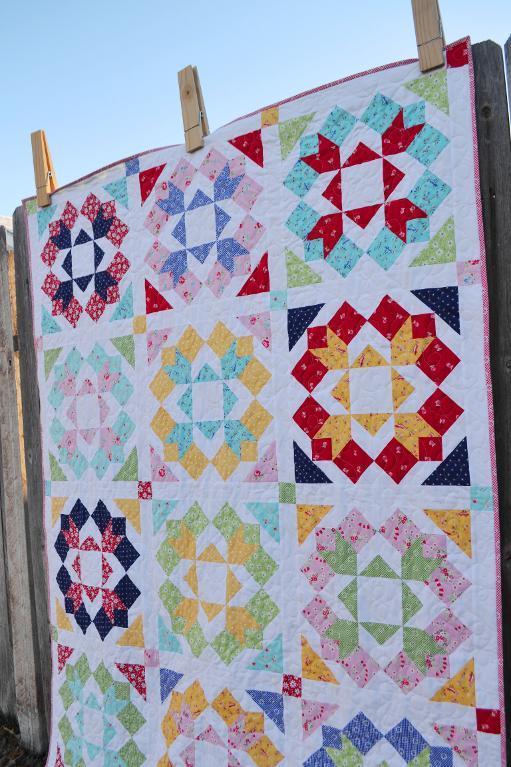 modern flower quilts