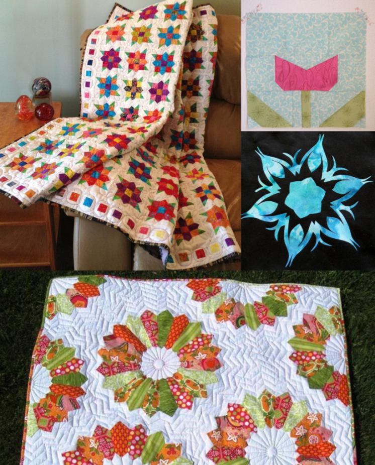modern flower quilt patterns