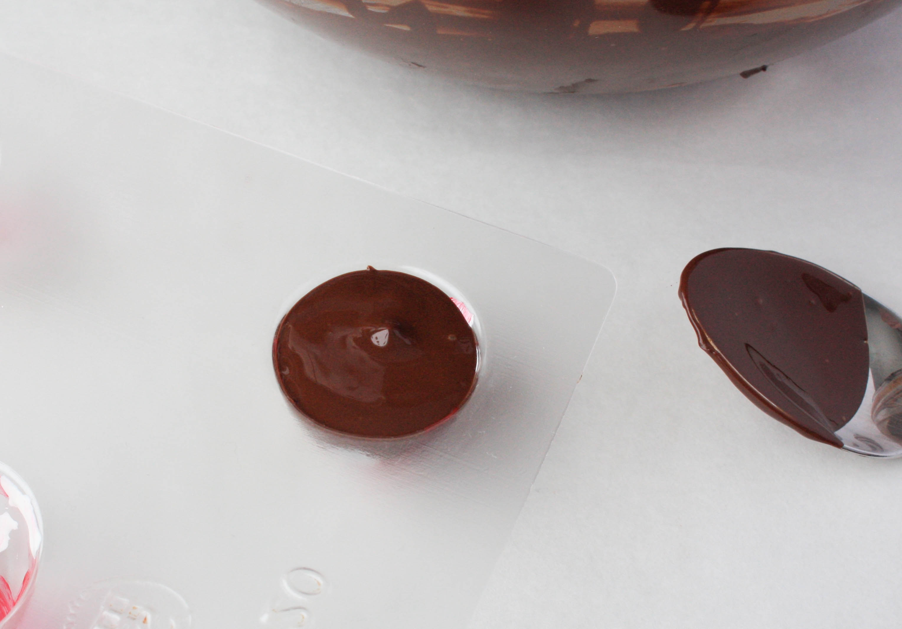 Filling the Molds With Chocolate | Erin Gardner