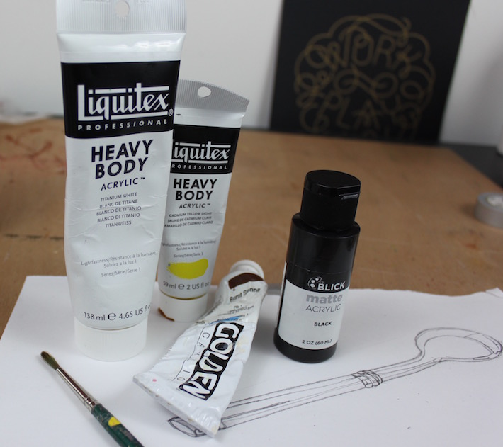 tools for painting reflections