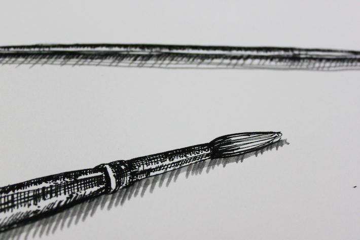 pen and ink texture - example