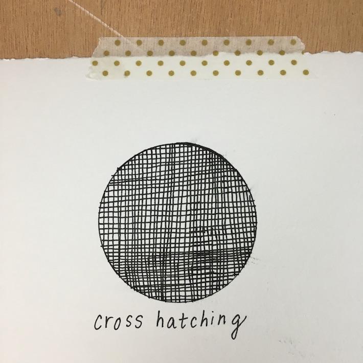 Cross hatch technique