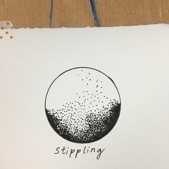 stipple pen technique