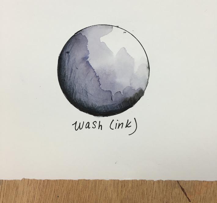 ink wash technique