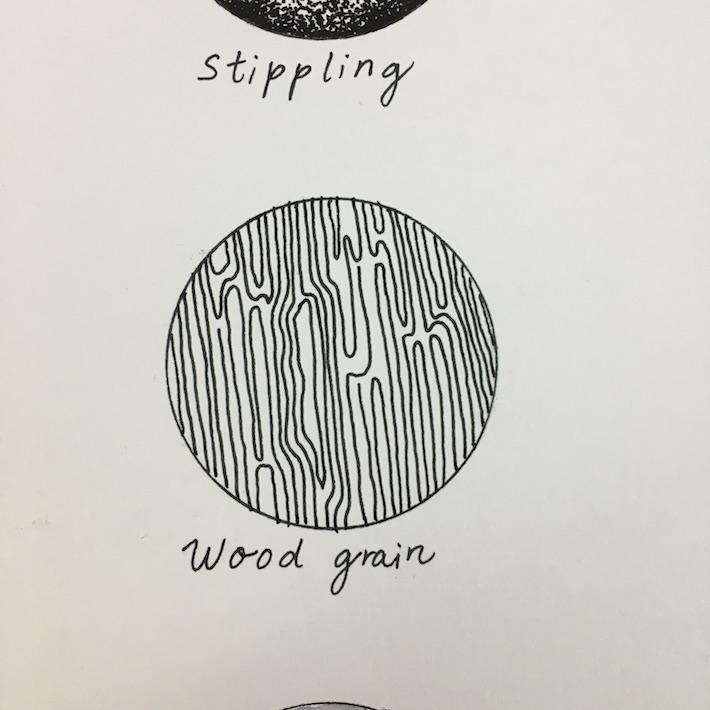 wood grain pen texture