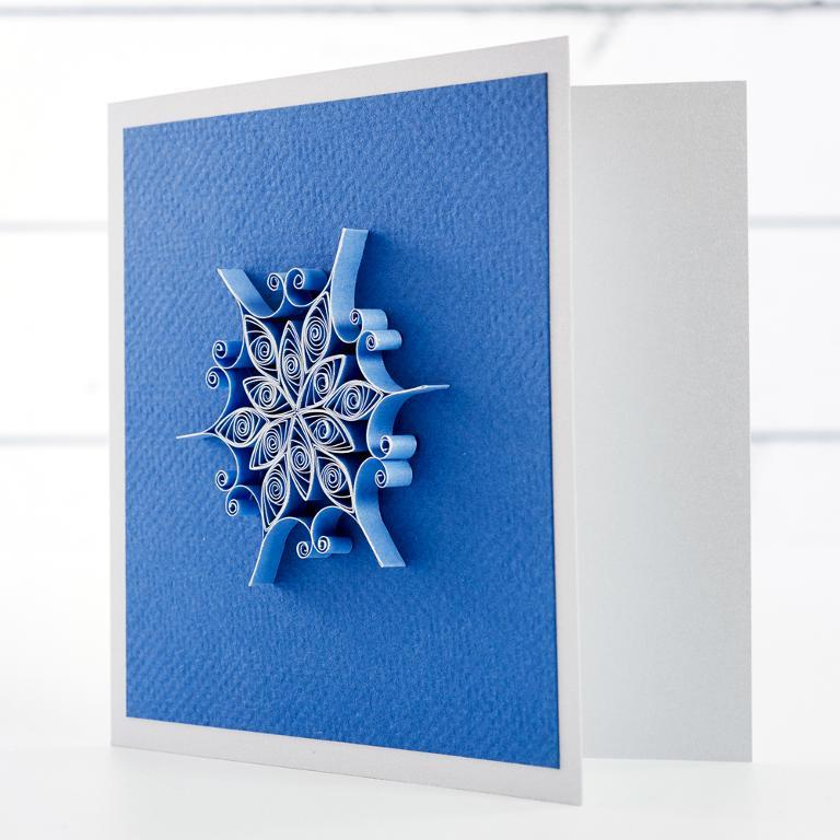 quilled snowflake card