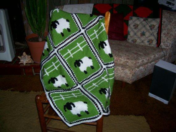 sheep crochet blanket pattern