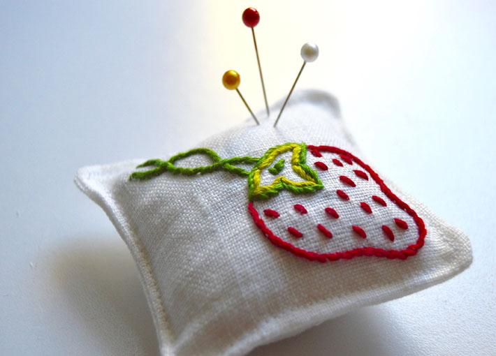 Stem Stitch Pincushion