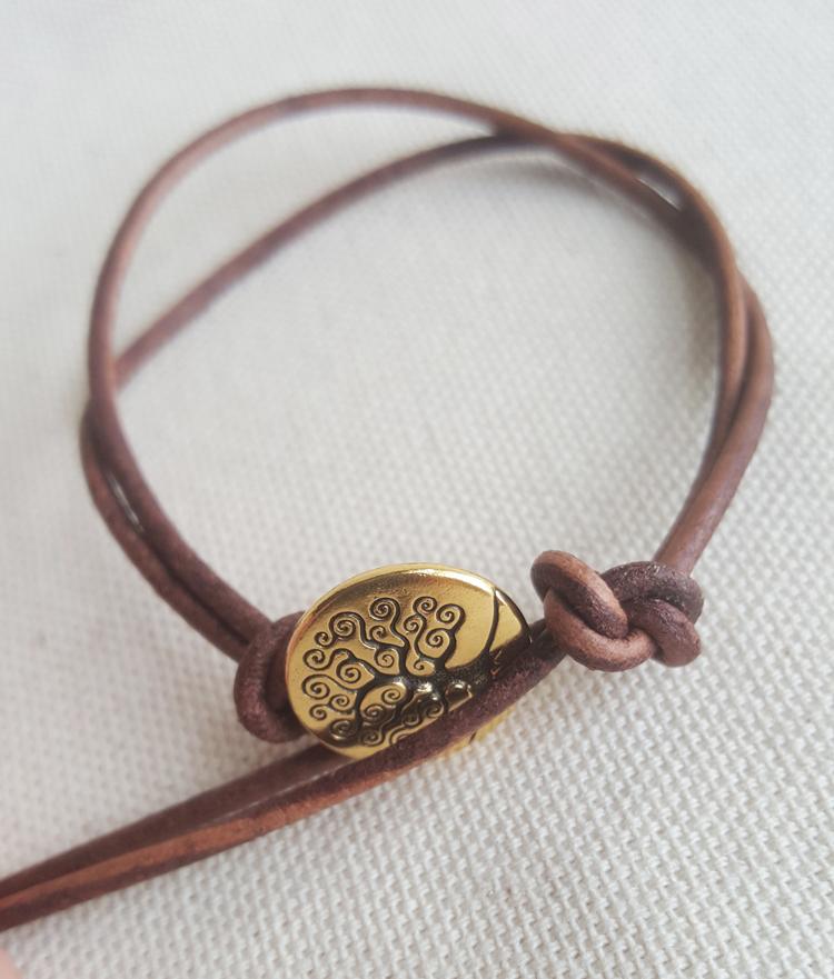 step four: tie knot