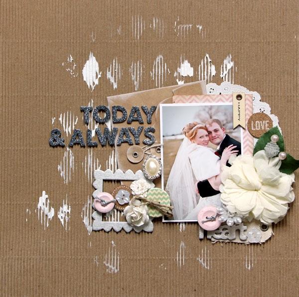 Wedding Valentine Scrapbook Page