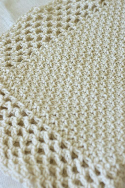tunisian crochet blanket