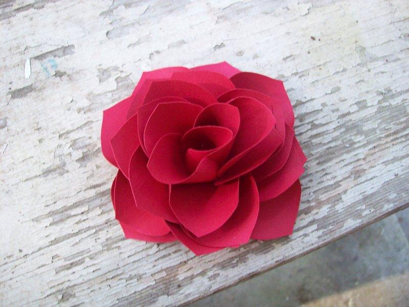 Valentine Red Paper Rose