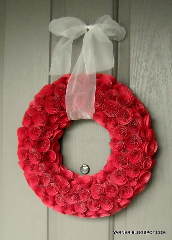 valentine rose wreath