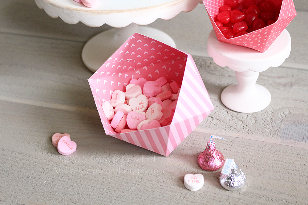 Valentine Geometric Candy Holders