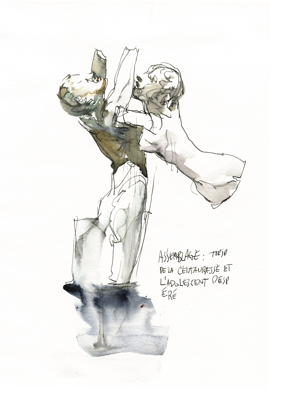 Statue Sketch by Marc Taro Holmes