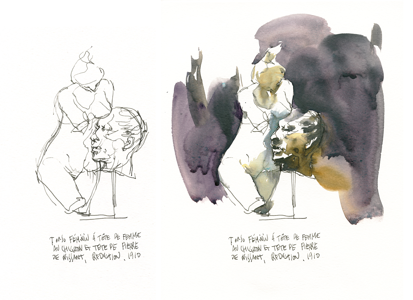 Statue sketches by Marc Taro Holmes
