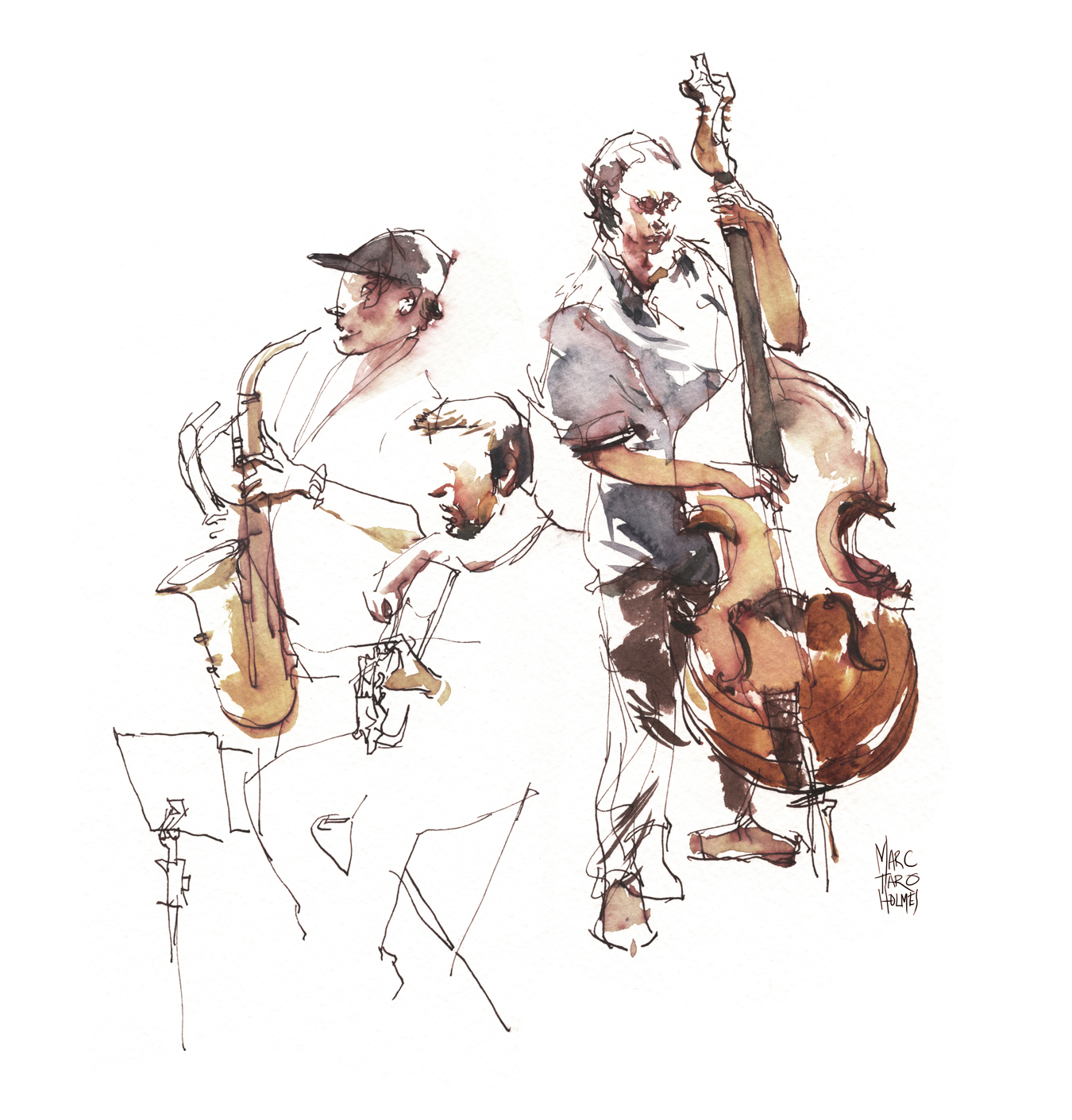 Quartet Sketch by Marc Taro Holmes