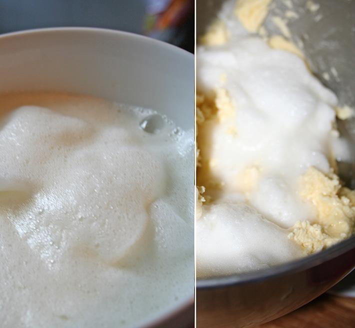 Fold in the egg whites