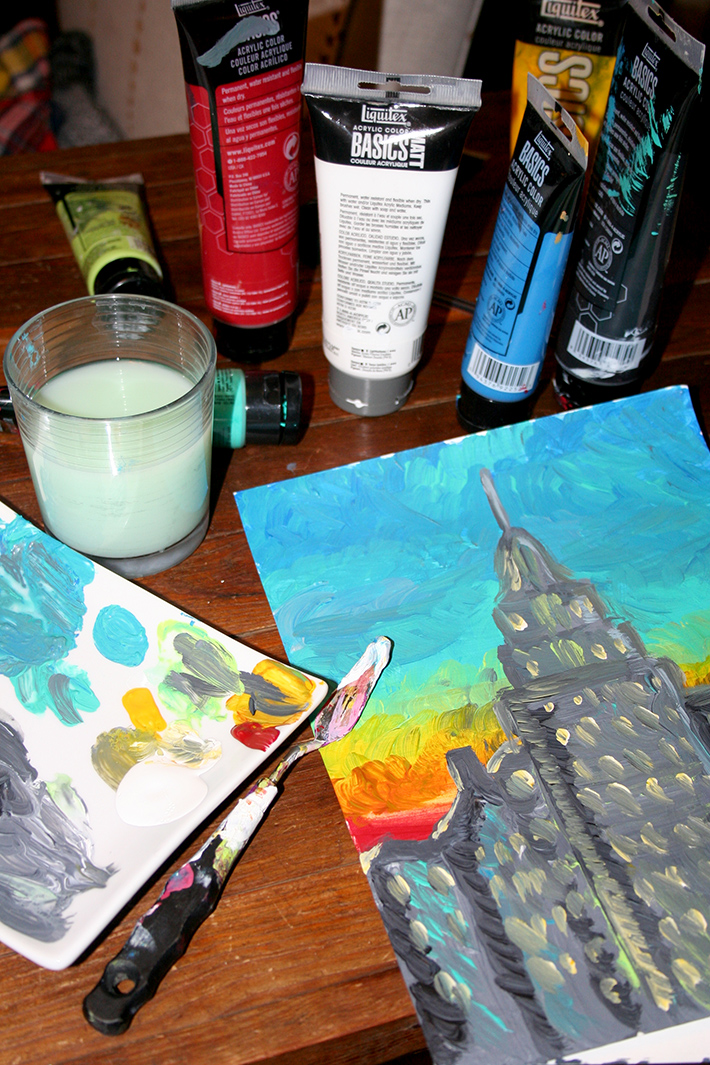 Impressionist style painting