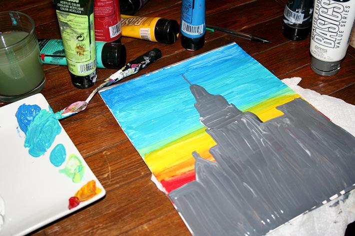Impressionist style beginnings