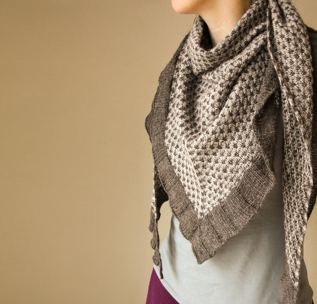 Spark of Grey Shawl Knitting Kit