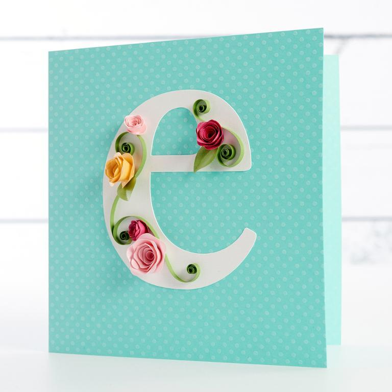 Image of Cecelia Louie's quilled letter e