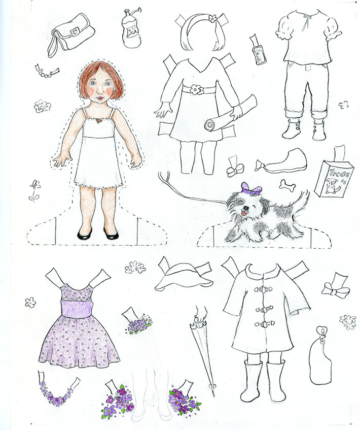 home made paper doll