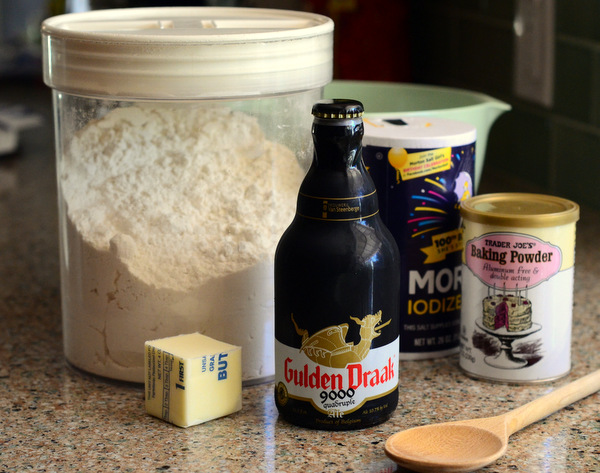 Ingredients for homemade beer bread