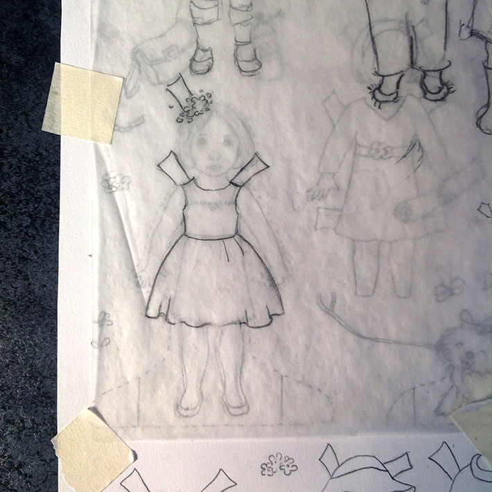 making paper doll clothes