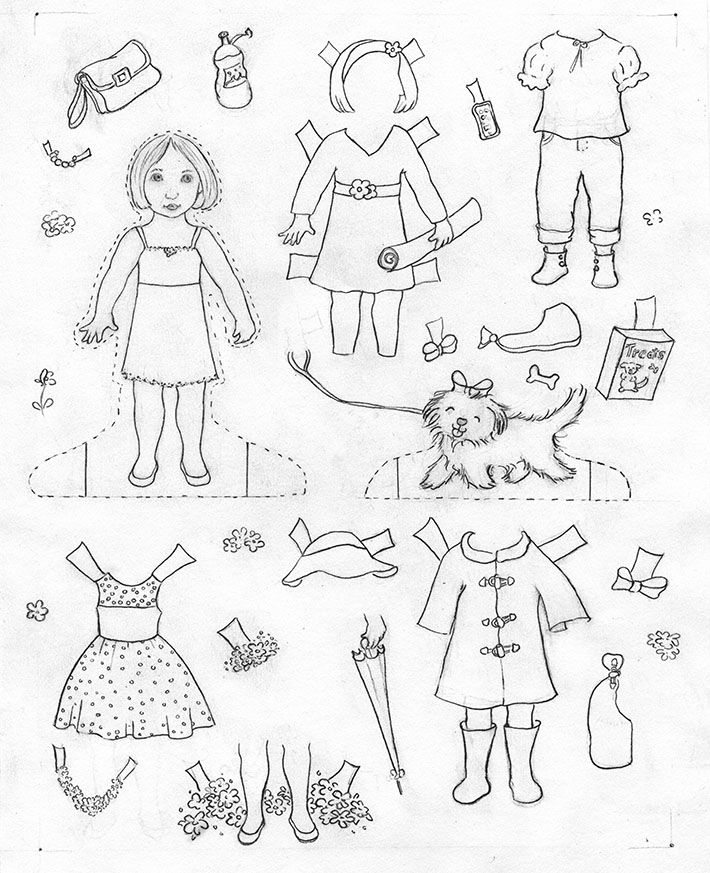 how to make your own paper doll