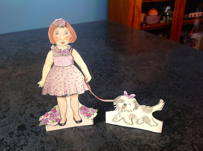 make your own paper doll tutorial