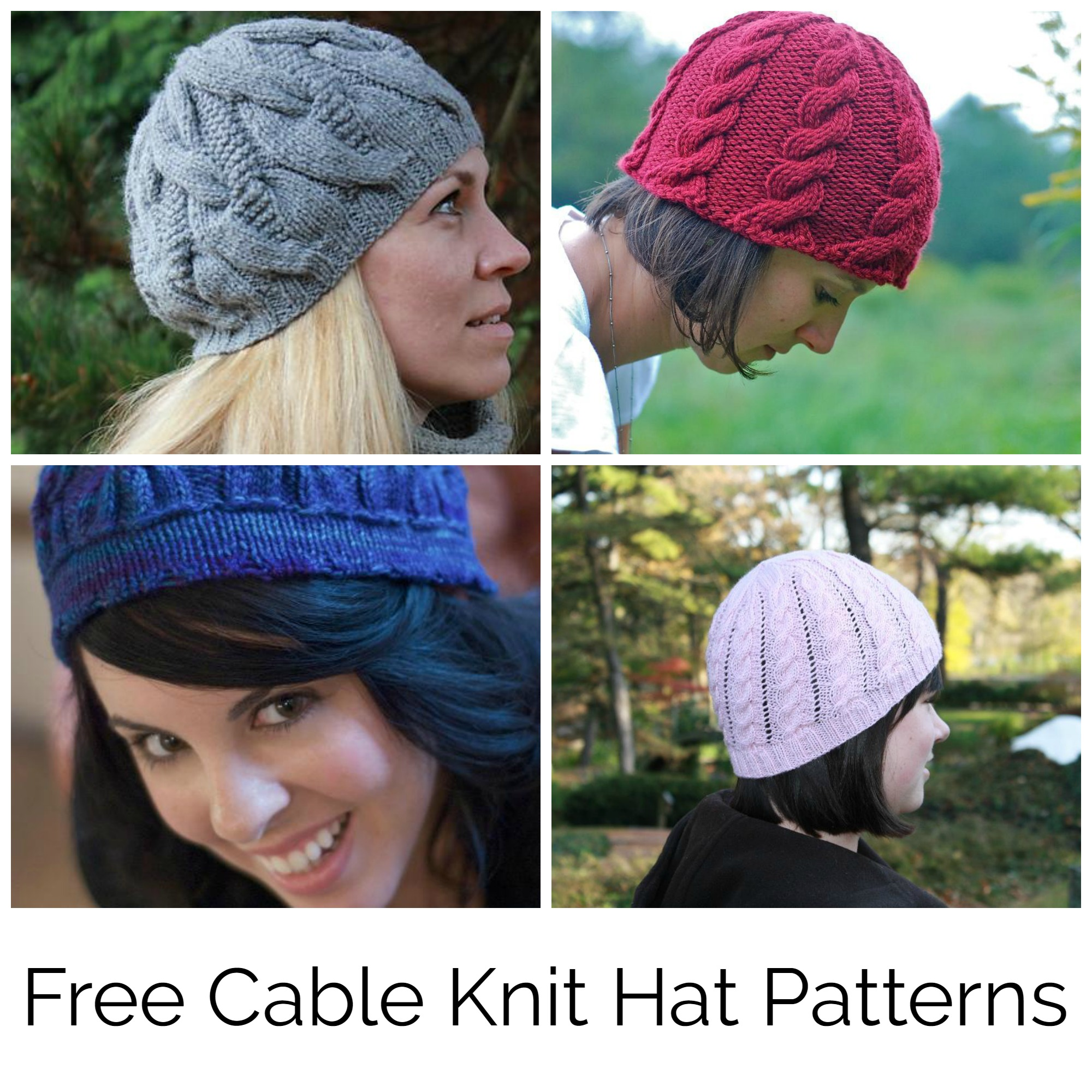 Free Cable Knit Hat Patterns
