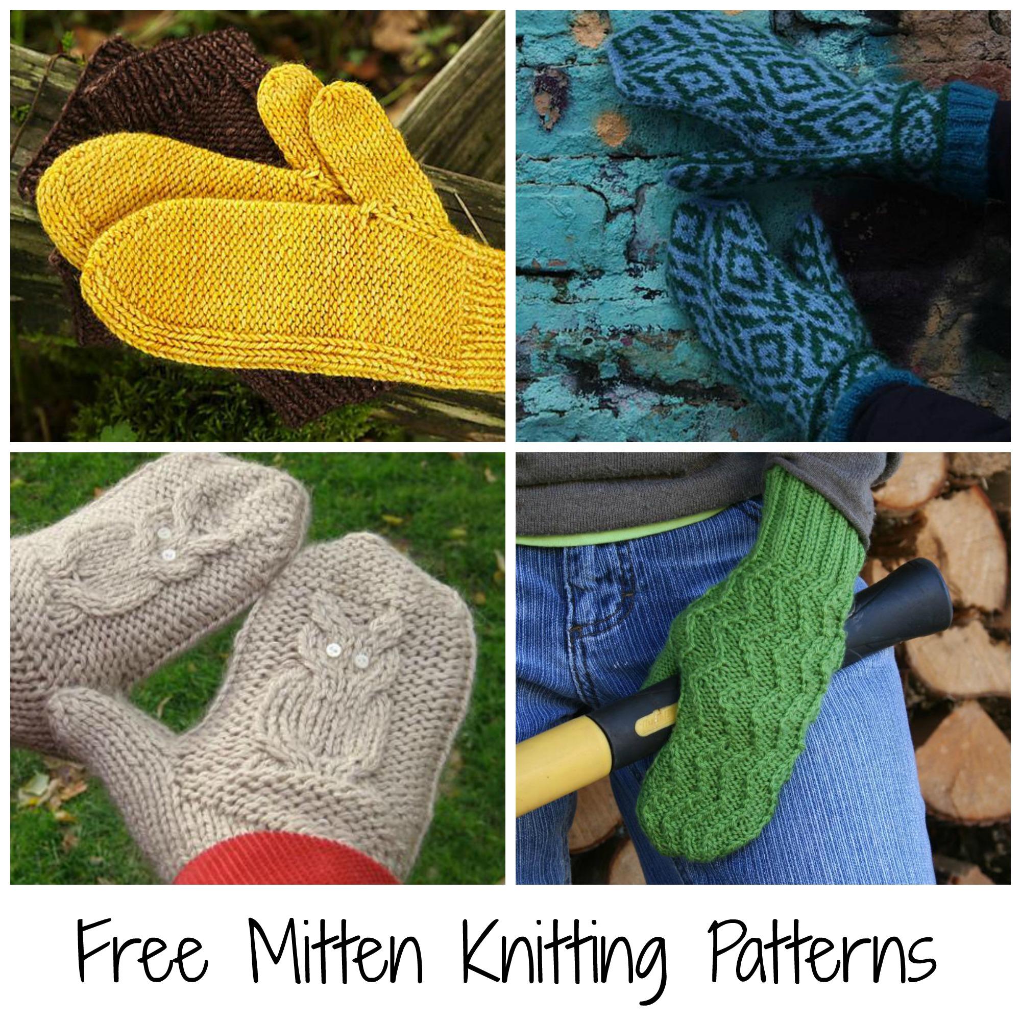 Free Mitten Knitting Patterns