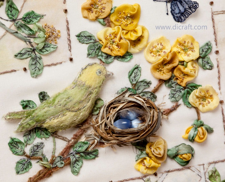 How to make cute little roses bird nest Di van Niekerk