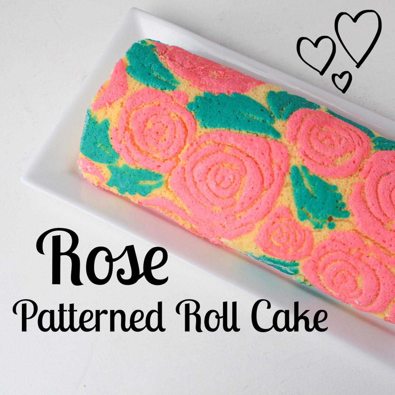 Valentine's Rose Patterned Roll Cake | Erin Gardner | Bluprint