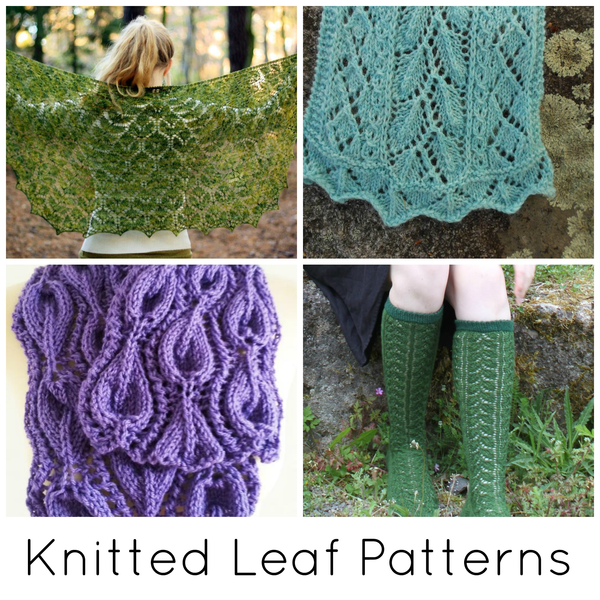 Knitted Leaf Patterns