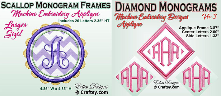 monograms for embroidering on fleece