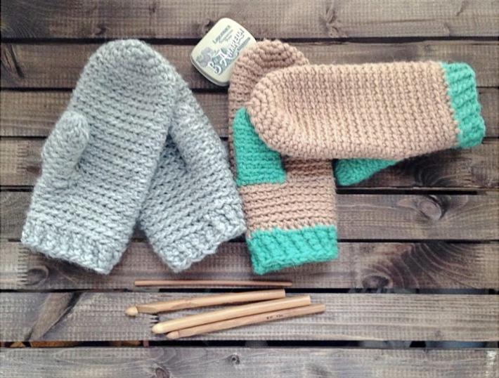One night crochet mitten pattern