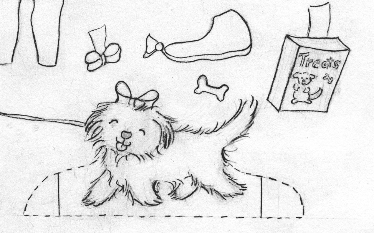 Draw a puppy paper doll