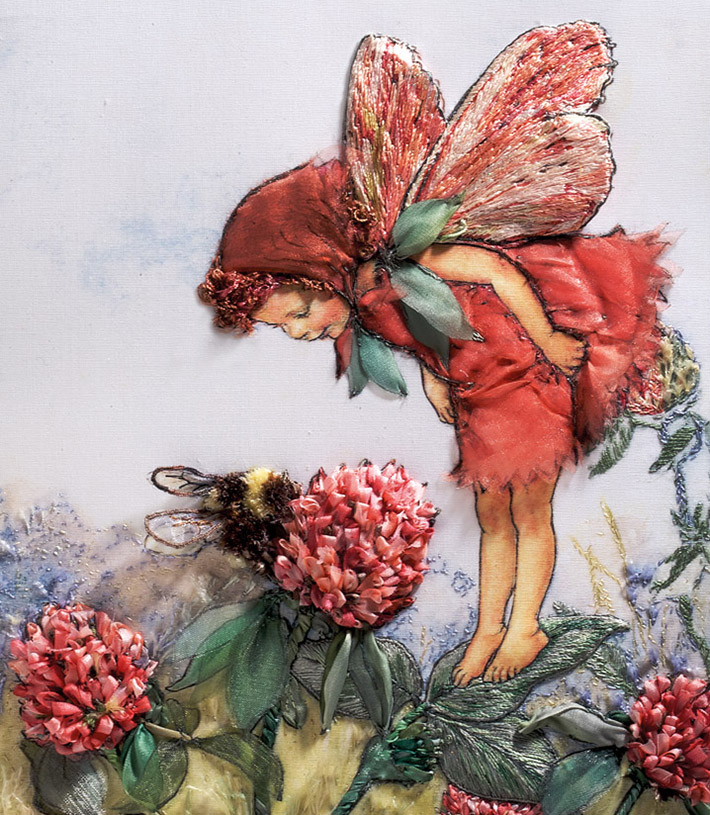 Red Clover Fairy by Di van Niekerk