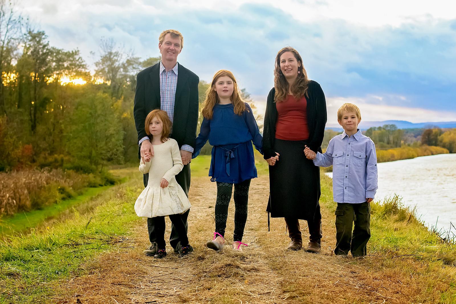 family photo river