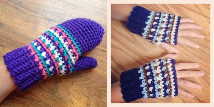 Sam mittens crochet mitten pattern