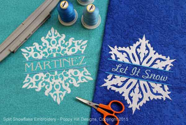 Embroidery designs with open areas work well on fleece.